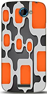 Snoogg Digital Tube Designer Protective Back Case Cover For HTC One S