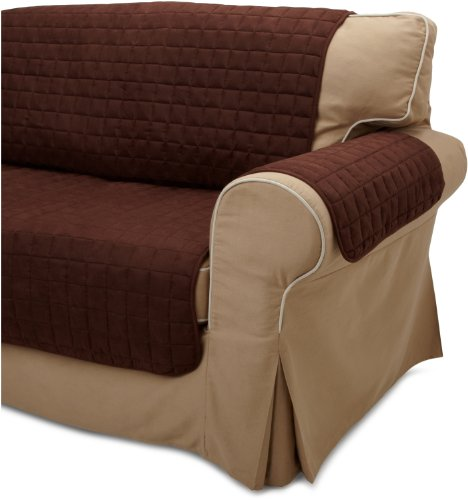 TexStyle Furniture Pet Cover Throw Loveseat, Chocolate