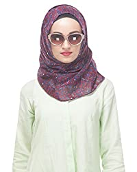 Modest Forever Chic Maroon Printed Summer Hijab / Scarf