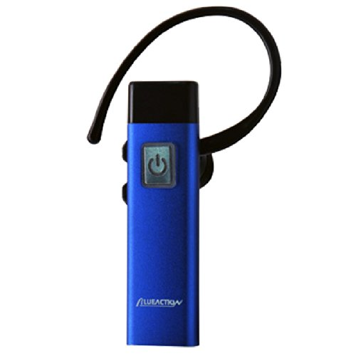 Sleek And Colorful Brushed Aluminum Bluetooth Headset Earpiece With Charger. Compatible With All Bluetooth-Enabled Devices. Iphone, Ipod, Ipad, Android, Smartphones, Tablets Pc, Htc, Samsung, Motorola And More. (Blue)