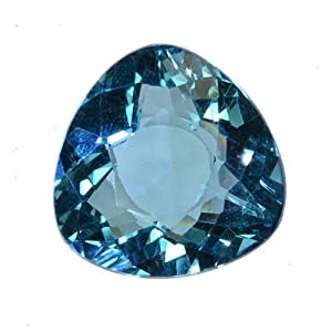 Aqua Blue Quartz Trillion Unset Loose Gemstone 20mm