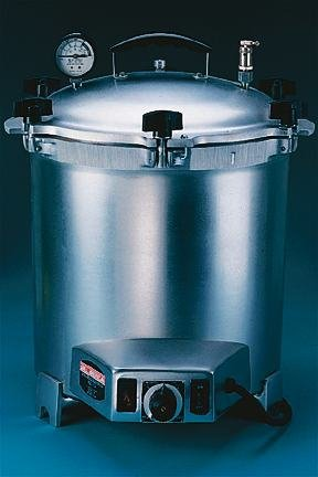 Portable Tabletop Sterilizer; 12-5/8 dia. x 11-7/8 in. D; With Heater by Wisconsin Aluminum Foundry Company