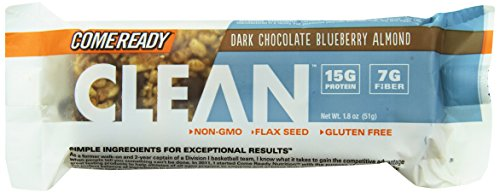 Come Ready Almond Tray, Dark Chocolate Blueberry, 12 Count (Come Ready Protein Bars compare prices)