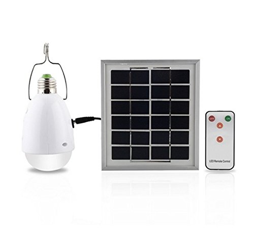 SMADZ SL21 4 in 1 LED Solar Lamp -12 Super Bright LEDs -Dimmable Function with an infrared remote control-Solar Barn / Camping / Emergency Light