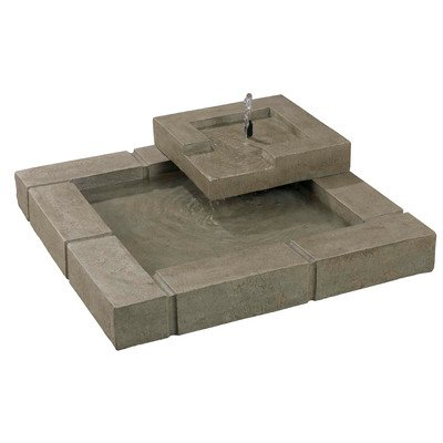 Kenroy Home 50184SS Belgian Block Outdoor Fountain
