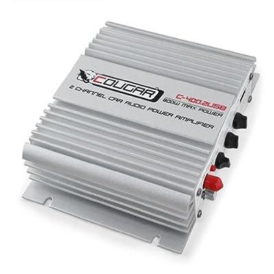 2-Kanal-Auto-Endstufe Cougar C400-2 USB-MP3 800W von Cougar - Reifen Onlineshop