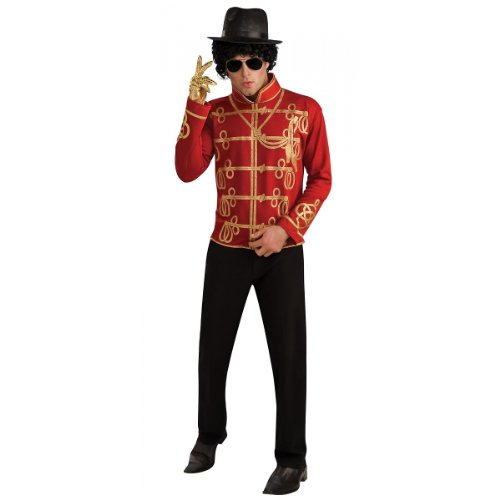 Michael Jackson Red Military Jacket Costume - Large - Chest Size 42-44