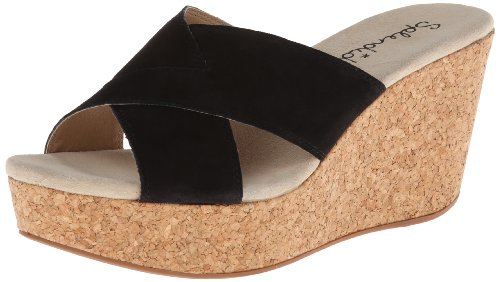 Splendid Women'S Goleta Wedge Sandal,Black Suede,10 M Us front-1013847