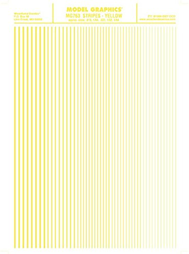 Woodland Scenics Stripes, Yellow WOOMG763