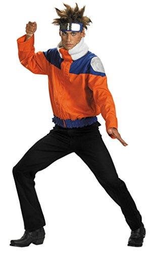 Boys Naruto Jacket Deluxe Kids Child Fancy Dress Party Halloween Costume