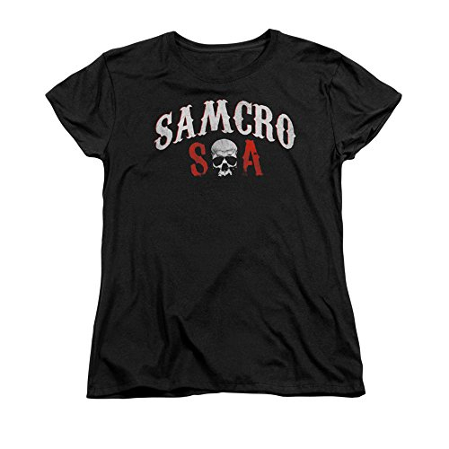 Sons Of Anarchy Tv Series Distressed Samcro Forever Soa Logo Women'S T-Shirt