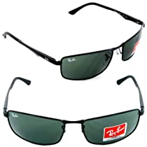Ray-Ban RB3498 Sunglasses 002/71-6417 - Black Frame, Green RB3498-002-71-64