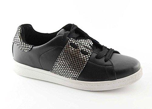 DIVINE FOLLIE 13000 nero canna fucile scarpe donna sportive sneakers lacci 36