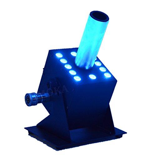 2pcs/Lot Stage Effects Cannon Co2 Cryo Jet 3W*12 Pcs LED Bulbs DMX-512 Special Effect Fog Smoke C02 Jet Machine