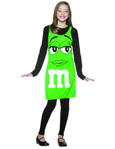 adult costumes - M&Ms Green Tank Dress Tween