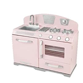KidKraft Retro Kitchen without Refrigerator (Pink)