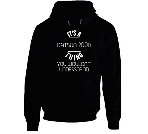 Datsun 200B Thing Wouldn't Understand Funny Car Auto Hooded Pullover L Black (Datsun Hoodie compare prices)
