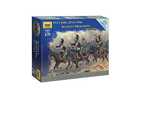 Zvezda Models 1/72 Russian Dragoons Napoleonic Wars Model Kit