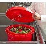 Chef-Master 90008 Professional Economy Salad Dryer, 5 gallon, Red