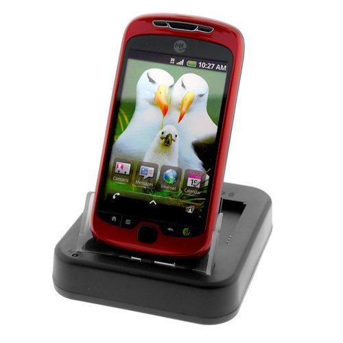 GTMax Sync & Charging USB Cradle Desktop Charger with 2nd Battery Slot for T-Mobile HTC MyTouch 3G Slide Cell Phone