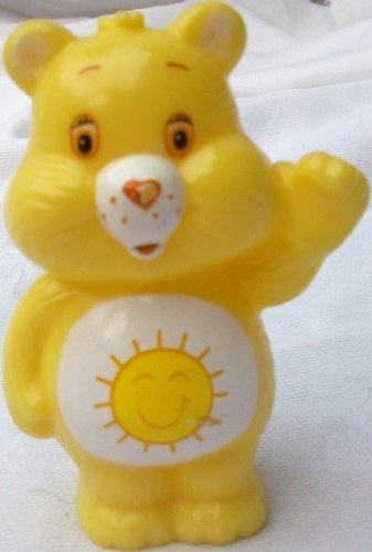 "3"" Hard Plastic, Care Bears, Funshine Bear Figure Doll Toy - 1"