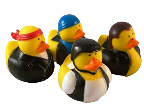 12-ducks-per-order-fun-express-dozen-biker-rubber-ducks
