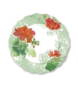 Melamine Plates Plastic Plates Dinner Plates Set of Four 10.5 inches Round Geranium Design