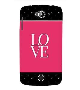 Love Pink Black Dots 3D Hard Polycarbonate Designer Back Case Cover for Acer Liquid Zade Z530 : Acer Liquid Zade Z530S