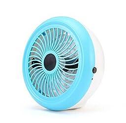 Generic Mini Round Folding USB Desk Fan Blue