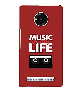 Music Is My Life 3D Hard Polycarbonate Designer Back Case Cover for YU Yureka AO5510