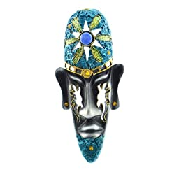 Lightahead® Artistic Tribal face mask decoration for the wall.Great gift (Blue)