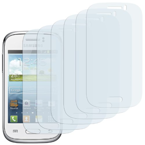Einzige 6-Pack Screen Protectors for Samsung Galaxy Young S6310 Crystal Clear with Polishing Cloth