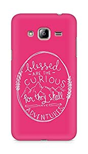 AMEZ Blessed are the curious Back Cover For Samsung Galaxy J3 (2016 EDITION)