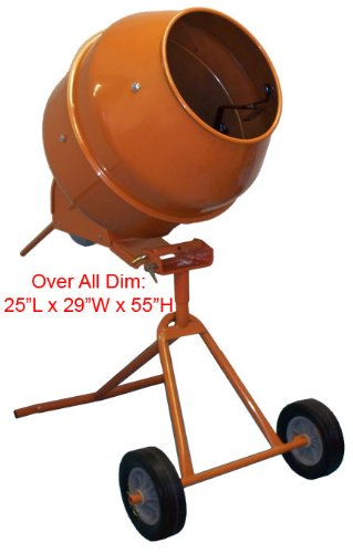 Lowest Prices! 5 Cubic Feet Tall Portable Cement Concrete Mixer