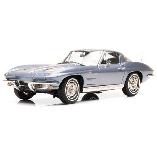 AUTOart 1/18 CHEVROLET CORVETTE 1963 SILVER BLUE