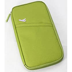 Durable Waterproof Nylon Travel Document Wallet Passport Holder (green)