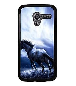 Fuson Premium 2D Back Case Cover Horse With Multi Background Degined For Motorola Moto X XT1058::Motorola Moto X (1st Gen)