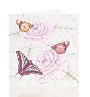 3 Butterflies Blank Card