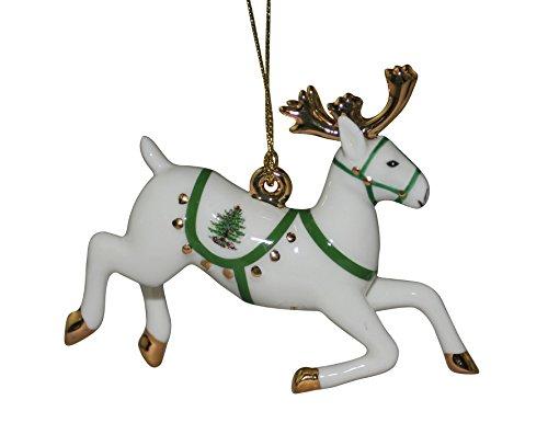 Spode Christmas Tree Ornament, Reindeer Spode China Christmas Tree
