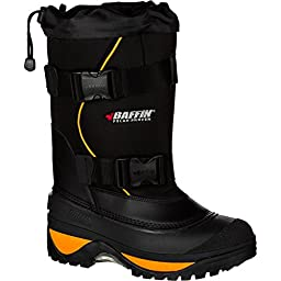 Baffin Men\'s Wolf Snow Boot,Black/Expedition Gold,12 M US