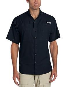 Columbia Men's Tamiami II Short Sleeve Shirt, Large, Collegiate Navy