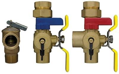Webstone 54443WPR Isolator E2 Lead Free Tankless Water Heater Service Valve Kit, 3/4-Inch Sweat