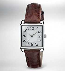 Square Face Analogue Vintage Strap Watch