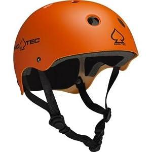 Pro-tec Classic Skate (Matte Orange) Skateboard Helmets & Pad