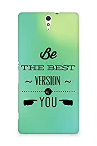 Amez Be the Best version of Yourself Back Cover For Sony Xperia C5