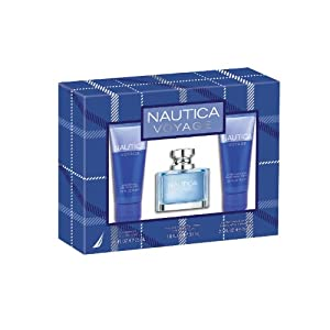 Nautica Voyage 3 Piece Gift Set (Eau de Toilette Spray, Shower Gel, After Shave Balm)