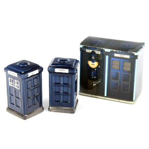 Doctor Who Tardis Ceramic Salt & Pepper Shakers