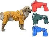 (エムズダイス)M's Dice 大型 中型 犬 用 レインコート 雨具 カッパ 《4カラー3サイズ》 (12.イエロー 7XL)