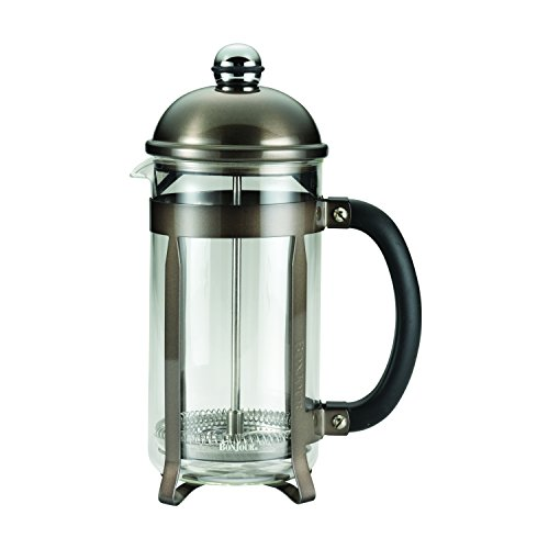 BonJour Coffee Stainless Steel French Press with Glass Carafe, 33.8-Ounce, Maximus(tm), Truffle (Bonjour French Press Parts compare prices)