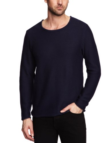 Selected Cash Crew Neck Men's Jumper Maritime Navy Medium